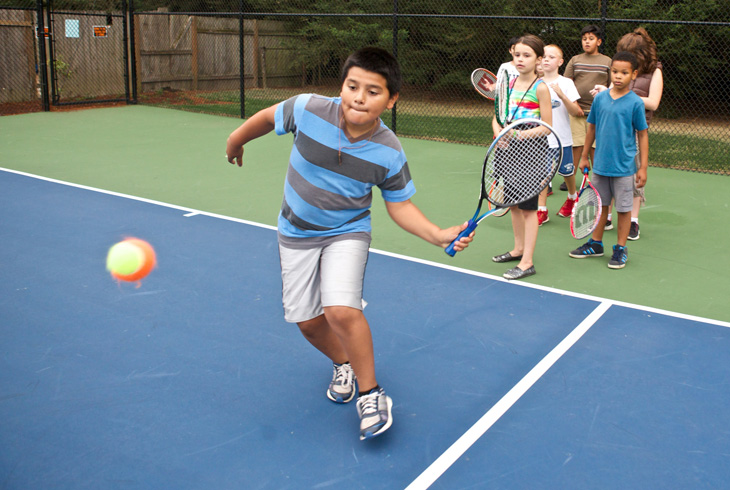A new 60-foot tennis court at Barsotti Park is one way the district supports USTA's efforts to recruit young players.