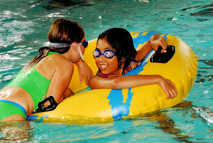 Unlimited admission to aquatic drop-in activities is included with the purchase of a General Pass. Daily rates are also available.