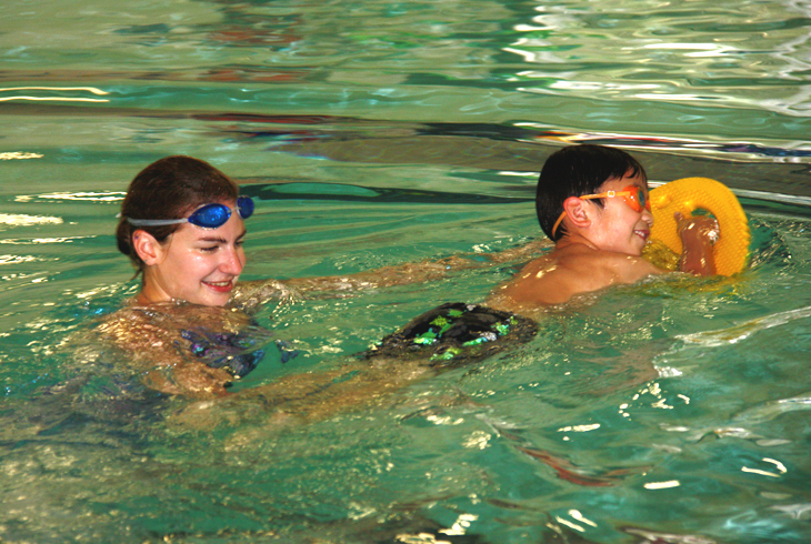Did you know? Goggles are allowed, but not recommended. A child who relies on goggles may be reluctant to swim if they are forgetten.
