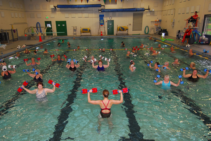 Achieve your fitness goals at one of our Aquatics Water Fitness classes!