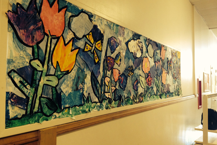 Encouraging our preschoolers to be creative and work together yields great rewards, like this art project.