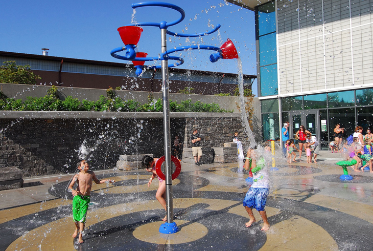 The district's first splash pad, at Conestoga Recreation & Aquatic Center, was one of the most anticipated bond measure projects to reach completion.