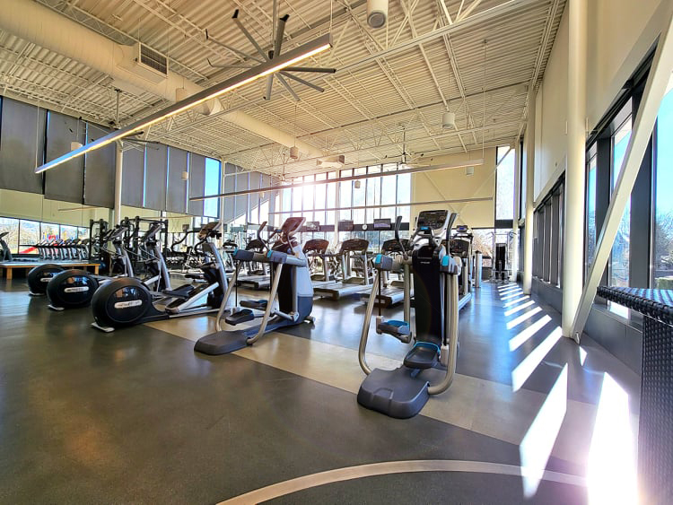 Conestoga's weight and cardio room is open daily, for drop-in use, to guests 14 years and older.