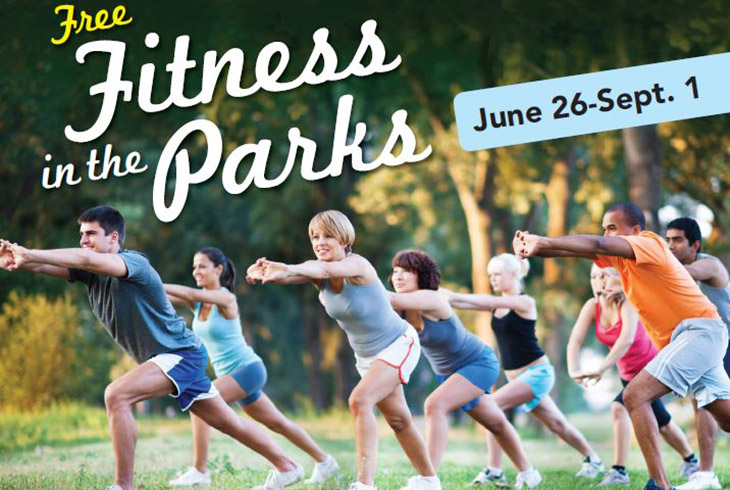 Join us for FREE Fitness in the Parks all summer long!