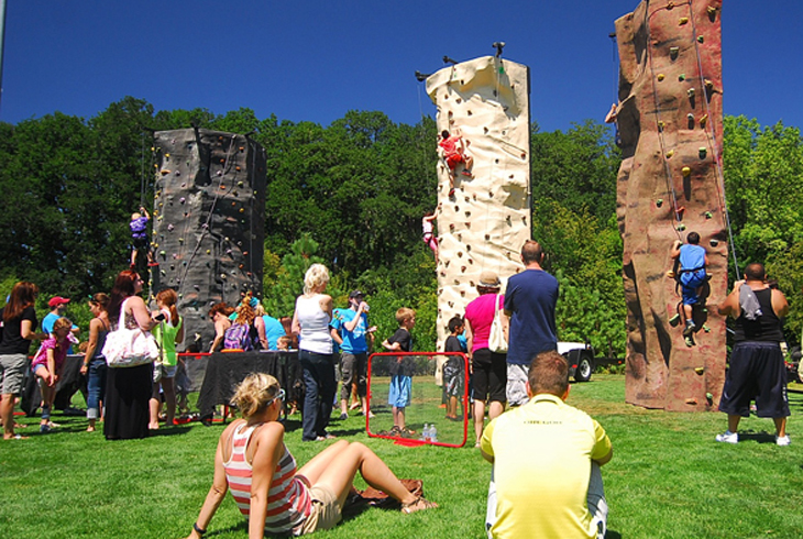 Each July, THPRD provides a day of free, fun activities including sports, climbing walls, and more.