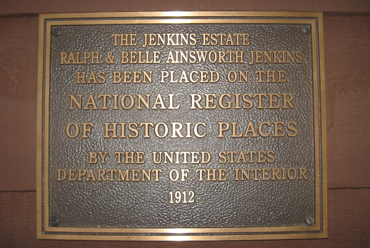 The Jenkins Estate is listed on the National Register of Historic Places.