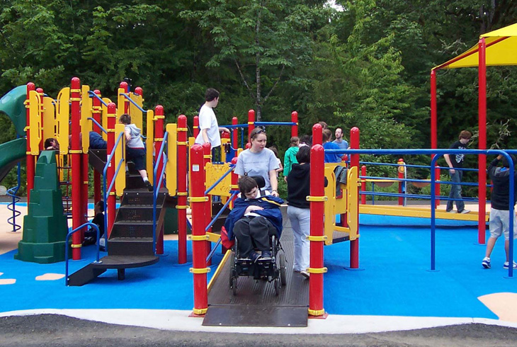 Each summer, the Camp Rivendale site at Jenkins Estate hosts day camps that provide recreational opportunities for children and young adults with physical, emotional and/or developmental disabilities.
