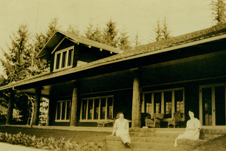 A preserved photo from the early 20th century showcases the estate of Ralph and Belle Jenkins, original owners of the 68-acre property on Cooper Mountain.