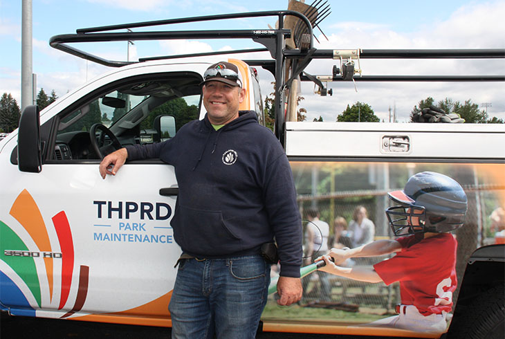 THPRD's maintenance staff supports 500,000 square feet of building space, park sites, more than 300 fields and a fleet of 185 vehicles.