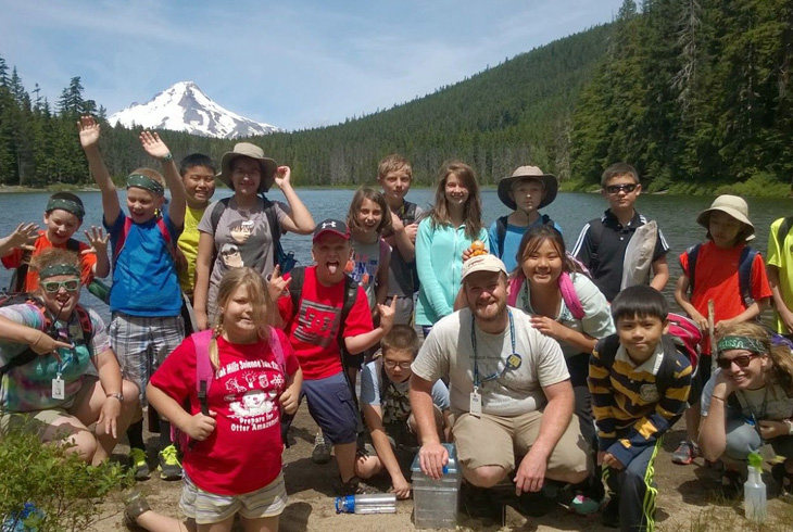 Some THPRD camps include outdoor aventures, like this Camp Green trip to Frog Lake.