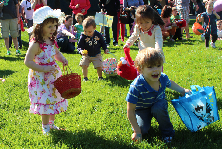 Spring egg hunts headline change of seasons