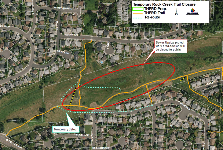 Construction to impact Rock Creek Trail users