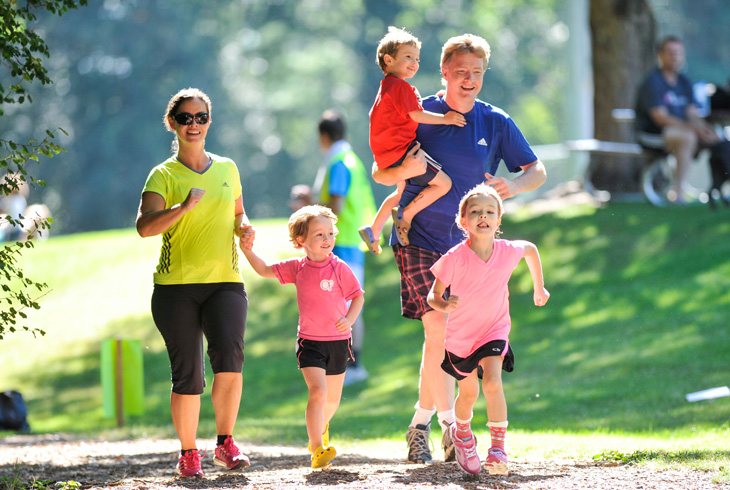 The untimed Family Triathlon (pictured) will kick off the 11th annual Party in the Park -- a day-long event -- on July 30 at THPRD's HMT Recreation Complex.