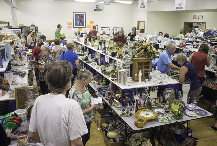 The Elsie Stuhr Center's largest fundraiser, Harvest Bazaar, is supported by donations of home goods and other gently-used items.