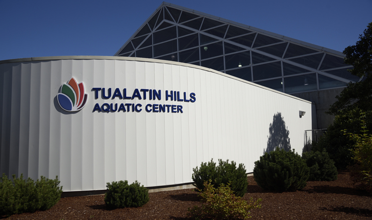 A variety of improvements have been made to the Tualatin Hills Aquatic Center, most notably a new roof.
