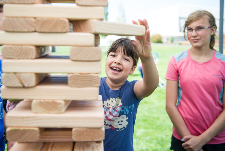 Giant Jenga! It's one of dozens of activities families can enjoy at the 12th annual Party in the Park on Saturday, July 29, at the HMT Recreation Complex.