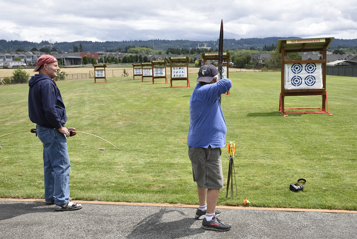A new archery range is now open, dawn to dusk, at PCC Rock Creek. There is no cost to use the range, which includes targets set at lengths ranging from 10 to 60 yards.