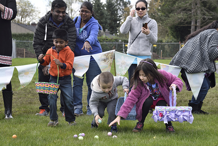 Children dash for eggs and prizes at last year's Spring Egg Hunt at Cedar Hills Recreation Center
