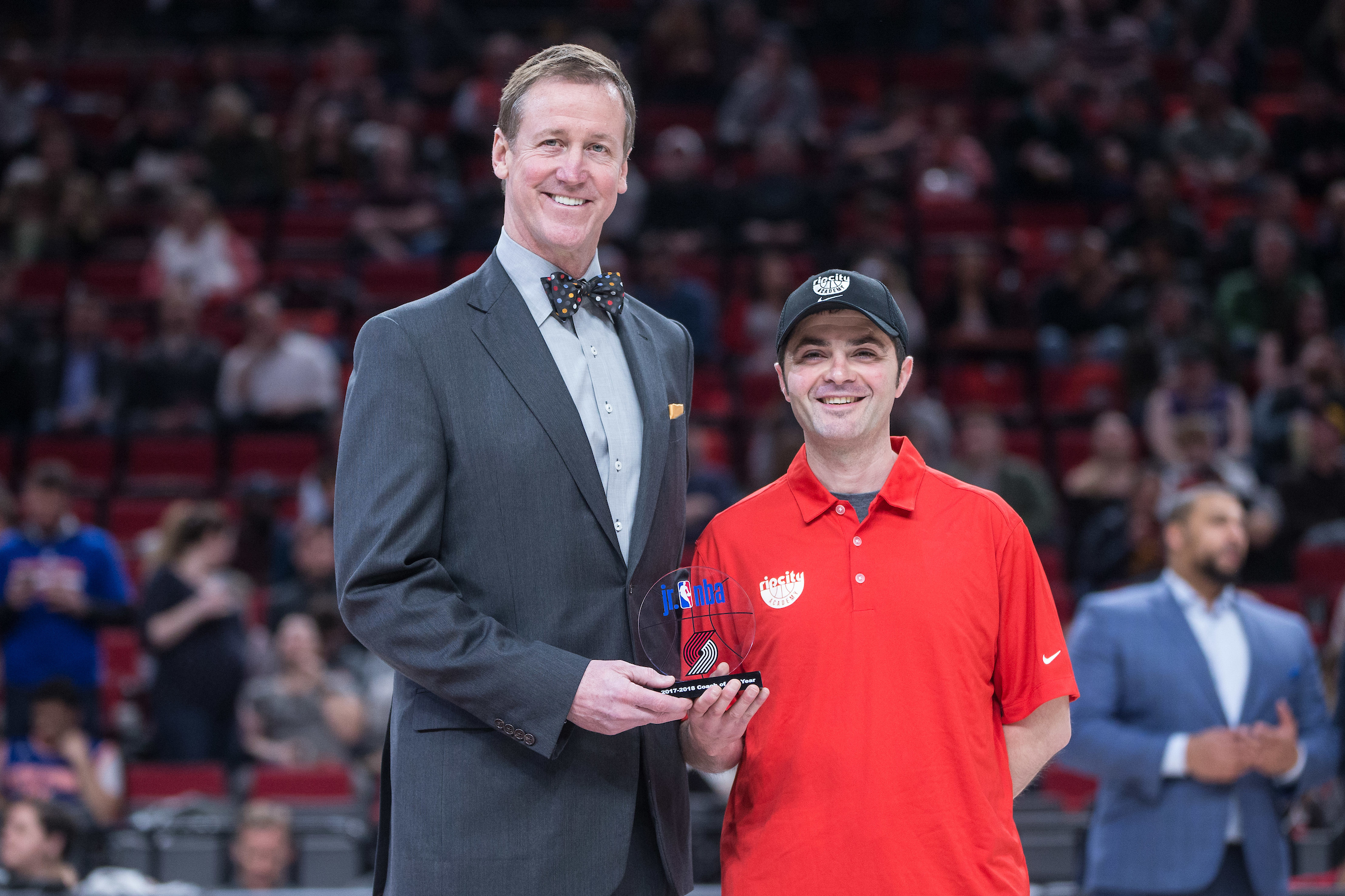 Blazers Honor THPRD Employee with Top Coaching Award
