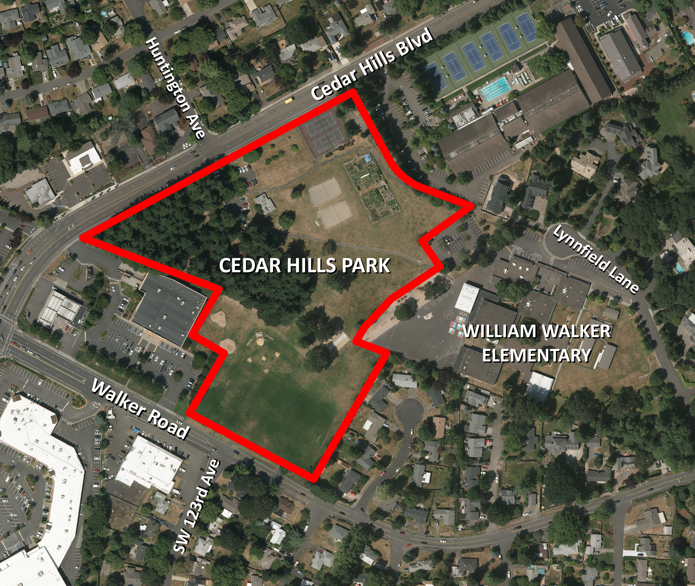 The redevelopment of Cedar Hills Park will coincide with construction of a new William Walker Elementary School by the Beaverton School District.