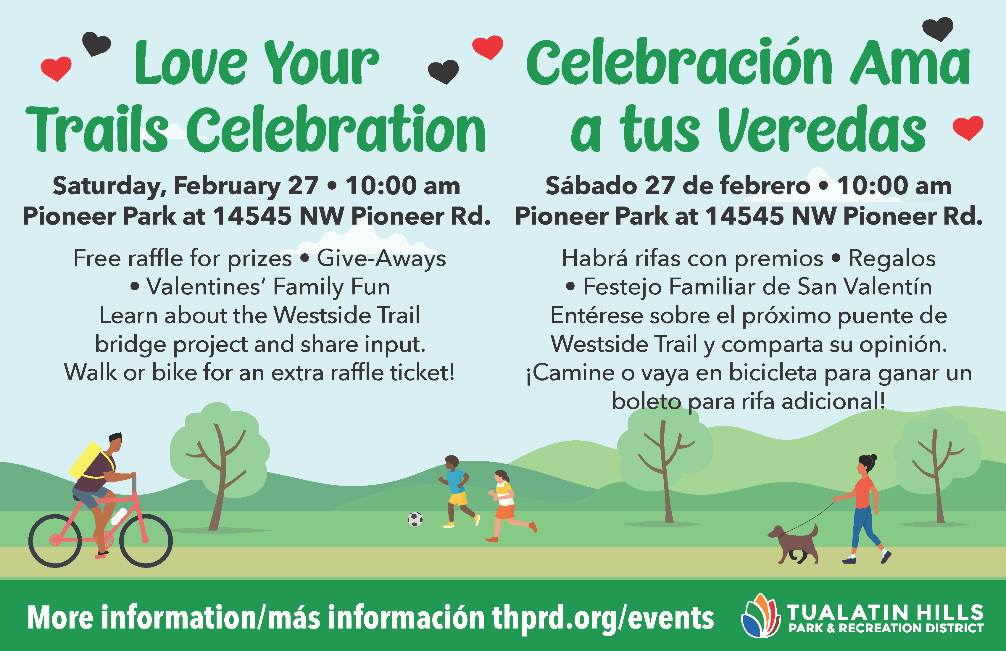 Love Your Trails celebration / Celebración Ama a tus Veredas