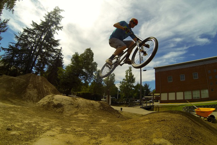 Beaverton's first BMX and dirt jump course is located at Eichler Park.