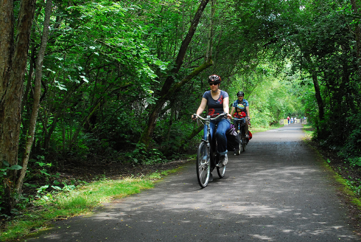 The Fanno Creek Trail is just one of many scenic adventures that await on more than 70 miles of trail located throughout the district.