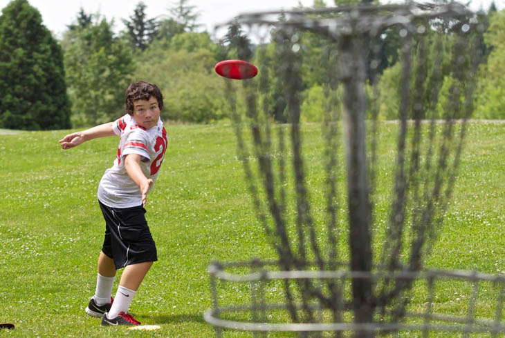 The district's only nine-hole disc golf course is located at Greenway Park, just south of Hall Blvd.