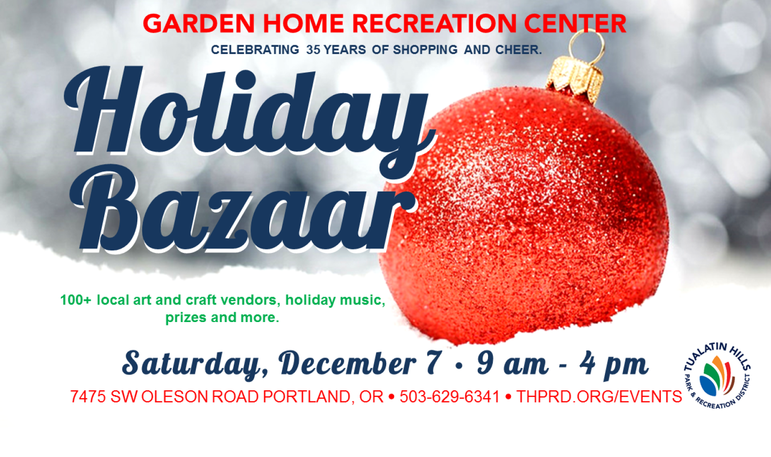 Find Your Holiday Gifts - at the Holiday Bazaar