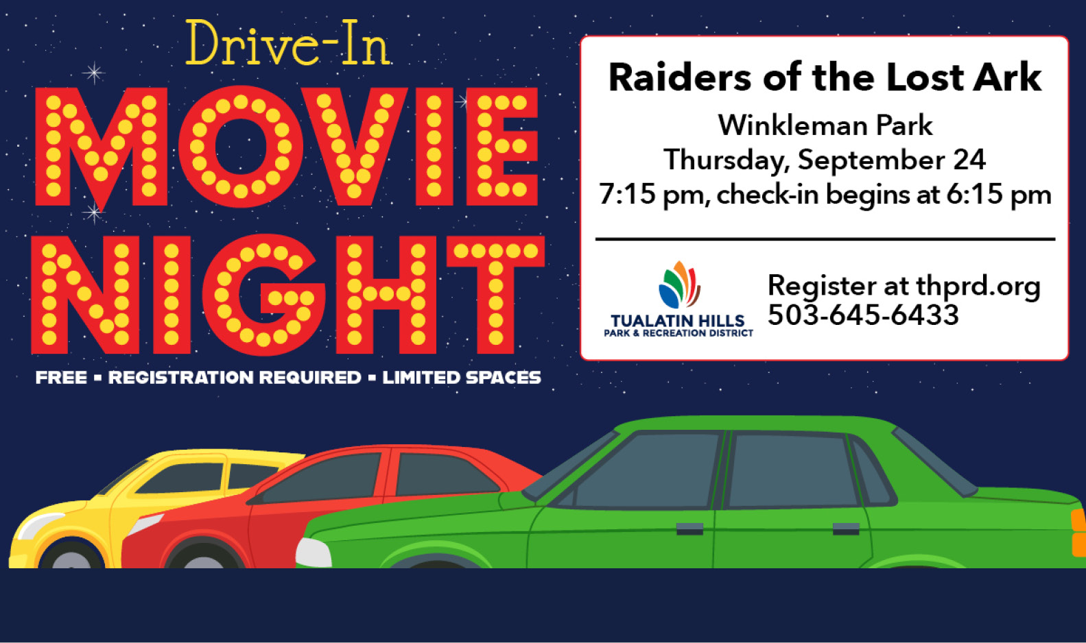 Drive-in Movie - This Thursday, Sept. 24