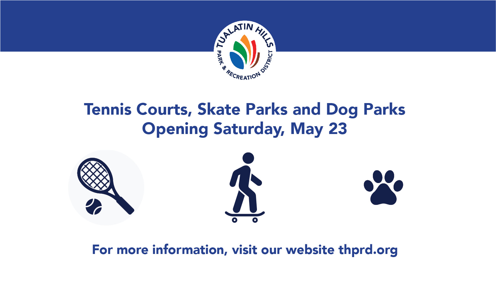 Outdoor Amenities - Re-opening for use on 5/23