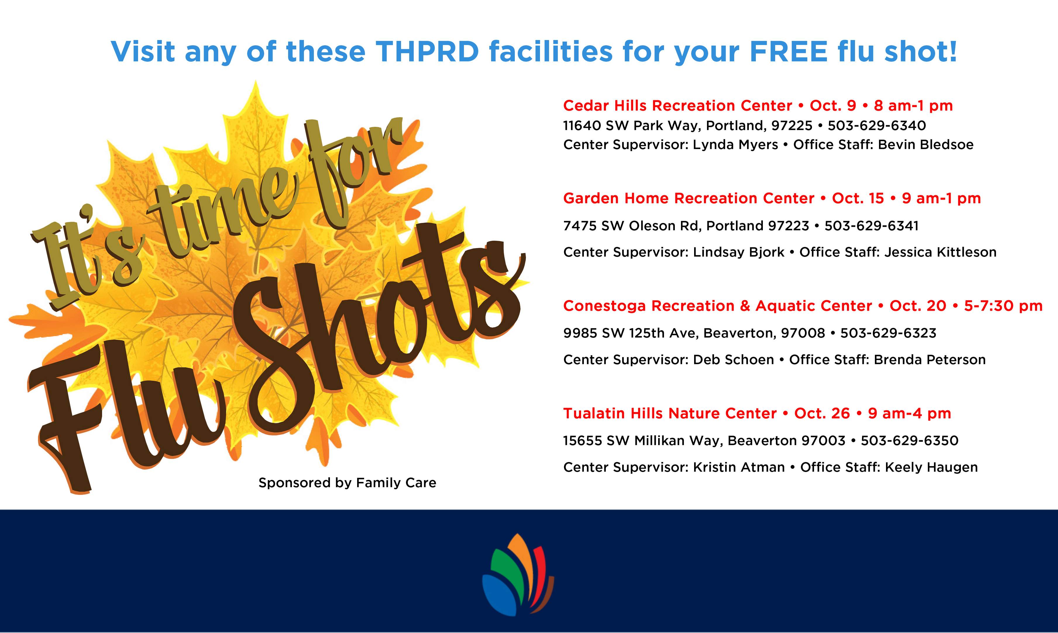 Avoid Flu Season - Free flu shots in October