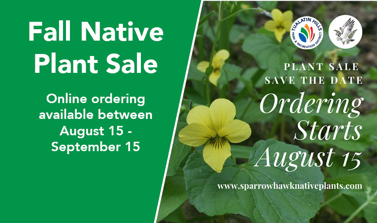 Plant Natives this Fall - Native plant sale is Oct. 3