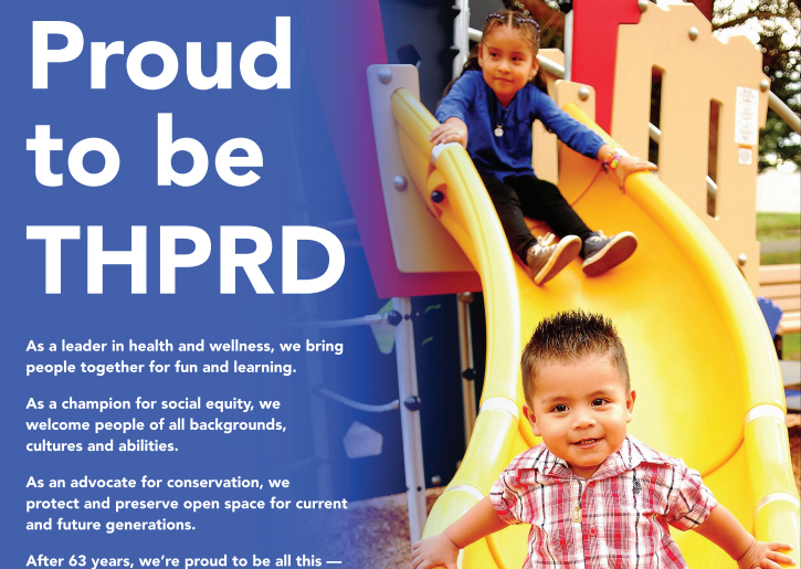 Pop-up image: THPRD supporting community for 63 years.
